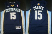 Wholesale Cheap Memphis Grizzlies #15 Vince Carter Revolution 30 Swingman Navy Blue Jersey