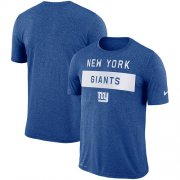 Wholesale Cheap Men's New York Giants Nike Royal Sideline Legend Lift Performance T-Shirt