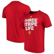 Wholesale Cheap Manchester United adidas Ultimate Three Stripe T-Shirt Red