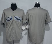 Wholesale Cheap Yankees Blank Grey New Cool Base Stitched MLB Jersey