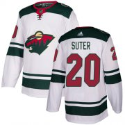 Wholesale Cheap Adidas Wild #20 Ryan Suter White Road Authentic Stitched Youth NHL Jersey