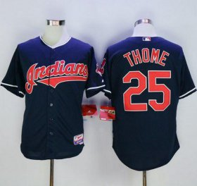 Wholesale Cheap Indians #25 Jim Thome Navy Blue Cool Base Stitched MLB Jersey