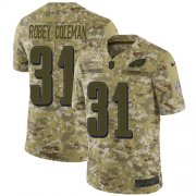 Wholesale Cheap Nike Eagles #31 Nickell Robey-Coleman Camo Men's Stitched NFL Limited 2018 Salute To Service Jersey