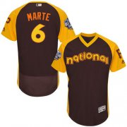 Wholesale Cheap Pirates #6 Starling Marte Brown Flexbase Authentic Collection 2016 All-Star National League Stitched MLB Jersey