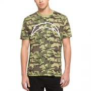 Wholesale Cheap Men's Los Angeles Chargers '47 Camo Alpha T-Shirt