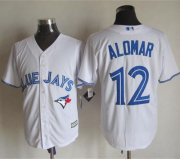 Wholesale Cheap Blue Jays #12 Roberto Alomar White New Cool Base Stitched MLB Jersey