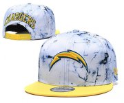 Wholesale Cheap Chargers Team Logo Smoke Yellow Adjustable Hat TX