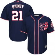 Wholesale Cheap Nationals #21 Tanner Rainey Navy Blue New Cool Base Stitched MLB Jersey