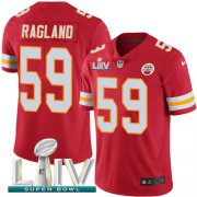 Wholesale Cheap Nike Chiefs #59 Reggie Ragland Red Super Bowl LIV 2020 Team Color Youth Stitched NFL Vapor Untouchable Limited Jersey
