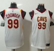 Wholesale Cheap Nike Cleveland Cavaliers #99 Jae Crowder White NBA Swingman Association Edition Jersey