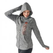 Wholesale Cheap Women's NFL Cincinnati Bengals G-III 4Her by Carl Banks Recovery Full-Zip Hoodie Heathered Gray