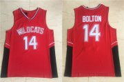 Wholesale Cheap Wildcats #14 Troy Bolton High School Red Soul Swingman Basketball Jersey