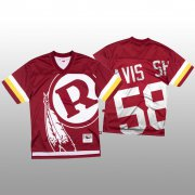 Wholesale Cheap NFL Washington Redskins #58 Thomas Davis Sr. Red Men's Mitchell & Nell Big Face Fashion Limited NFL Jersey