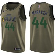 Wholesale Cheap Nike Jazz #44 Pete Maravich Green Salute to Service NBA Swingman Jersey