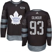 Wholesale Cheap Adidas Maple Leafs #93 Doug Gilmour Black 1917-2017 100th Anniversary Stitched NHL Jersey