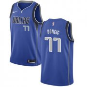 Wholesale Cheap Nike Dallas Mavericks #77 Luka Doncic Royal NBA Swingman Icon Edition Jersey