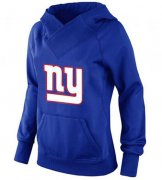Wholesale Cheap Women's New York Giants Logo Pullover Hoodie Blue-1