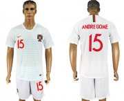 Wholesale Cheap Portugal #15 Andre Gome Away Soccer Country Jersey