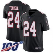 Wholesale Cheap Nike Falcons #24 A.J. Terrell Black Alternate Youth Stitched NFL 100th Season Vapor Untouchable Limited Jersey