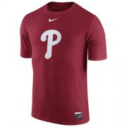 Wholesale Cheap Philadelphia Phillies Nike Authentic Collection Legend Logo 1.5 Performance T-Shirt Red