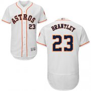 Wholesale Cheap Astros #23 Michael Brantley White Flexbase Authentic Collection Stitched MLB Jersey