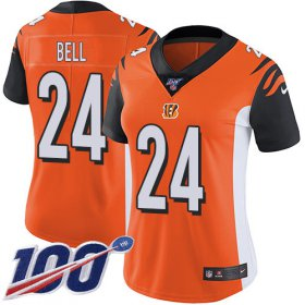 Wholesale Cheap Nike Bengals #24 Vonn Bell Orange Alternate Women\'s Stitched NFL 100th Season Vapor Untouchable Limited Jersey