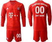 Wholesale Cheap Bayern Munchen Personalized Home Long Sleeves Soccer Club Jersey
