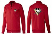 Wholesale Cheap NHL Pittsburgh Penguins Zip Jackets Red