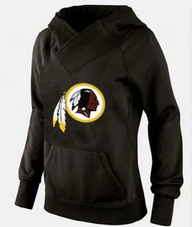 Wholesale Cheap Women\'s Washington Redskins Logo Pullover Hoodie Black