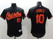 Wholesale Cheap Orioles #10 Adam Jones Black Flexbase Authentic Collection Stitched MLB Jersey