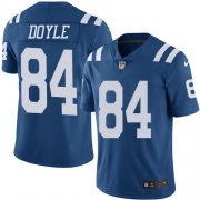 Wholesale Cheap Nike Colts #84 Jack Doyle Royal Blue Men's Stitched NFL Limited Rush Jersey