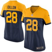 Wholesale Cheap Nike Packers #28 AJ Dillon Navy Blue Alternate Women's Stitched NFL Vapor Untouchable Limited Jersey