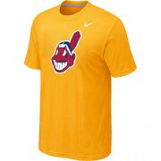 Wholesale Cheap MLB Cleveland Indians Heathered Nike Blended T-Shirt Yellow