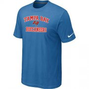 Wholesale Cheap Nike NFL Tampa Bay Buccaneers Heart & Soul NFL T-Shirt Indigo Blue