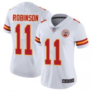 Wholesale Cheap Nike Chiefs #11 Demarcus Robinson White Women's Stitched NFL Vapor Untouchable Limited Jersey