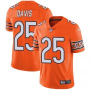 Wholesale Cheap Nike Bears #25 Mike Davis Orange Men's Stitched NFL Limited Rush Jersey