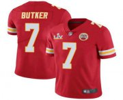 Wholesale Cheap Men's Kansas City Chiefs #7 Harrison Butker Red 2021 Super Bowl LV Limited Stitched NFL Jersey