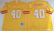 Wholesale Cheap Mitchell And Ness Buccaneers #40 Mike Alstott Gold Throwback Stitched NFL Jersey
