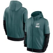 Wholesale Cheap Philadelphia Eagles Nike Sideline Impact Lockup Performance Full-Zip Hoodie Midnight Green