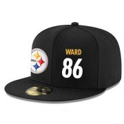 Wholesale Cheap Pittsburgh Steelers #86 Hines Ward Snapback Cap NFL Player Black with White Number Stitched Hat