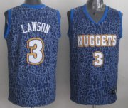 Wholesale Cheap Denver Nuggets #3 Ty Lawson Blue Leopard Print Fashion Jersey