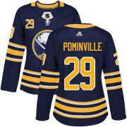 Wholesale Cheap Adidas Sabres #29 Jason Pominville Navy Blue Home Authentic Women's Stitched NHL Jersey