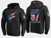 Wholesale Cheap Coyotes #97 Jeremy Roenick NHL Banner Wave Usa Flag Black Hoodie