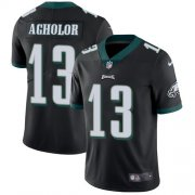 Wholesale Cheap Nike Eagles #13 Nelson Agholor Black Alternate Youth Stitched NFL Vapor Untouchable Limited Jersey