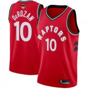 Wholesale Cheap Raptors #10 DeMar DeRozan Red 2019 Finals Bound Basketball Swingman Icon Edition Jersey