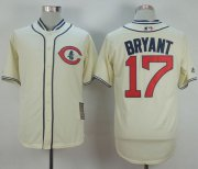 Wholesale Cheap Cubs #17 Kris Bryant Cream 1929 Turn Back The Clock Stitched MLB Jersey