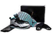 Wholesale Cheap Air Jordan 10 Lady Liberty Shoes Silver/black-blue