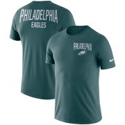 Wholesale Cheap Philadelphia Eagles Nike Sideline Facility Performance T-Shirt Midnight Green