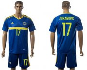 Wholesale Cheap Bosnia Herzegovina #17 Zukanovic Home Soccer Country Jersey