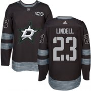 Wholesale Cheap Adidas Stars #23 Esa Lindell Black 1917-2017 100th Anniversary Stitched NHL Jersey